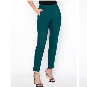 Express Emerald Green Cropped Dress Pants